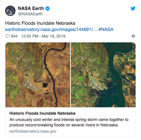 Flood Waters in Midwest Drowning Farms and an AF Base